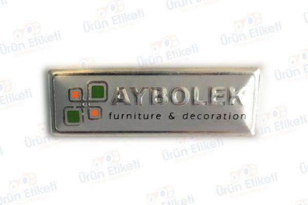 Kabartmalı Metal Etiket